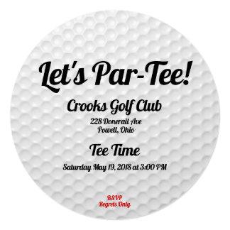 Golf Ball Birthday Party Invitation