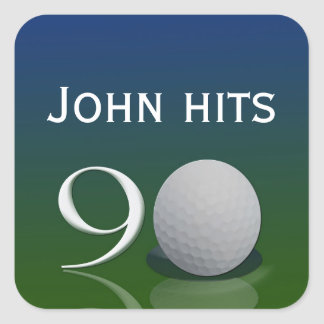 Golf Ball Birthday sticker for the 90 year old