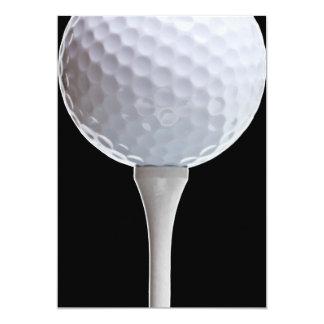 Golf Ball Black Background Golfing Sports Template Card
