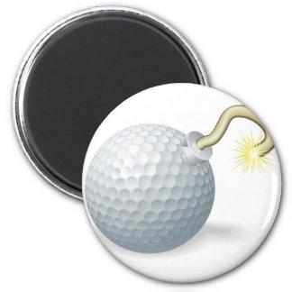 Golf ball bomb concept fridge magnet