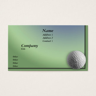 Golf Ball Business Card