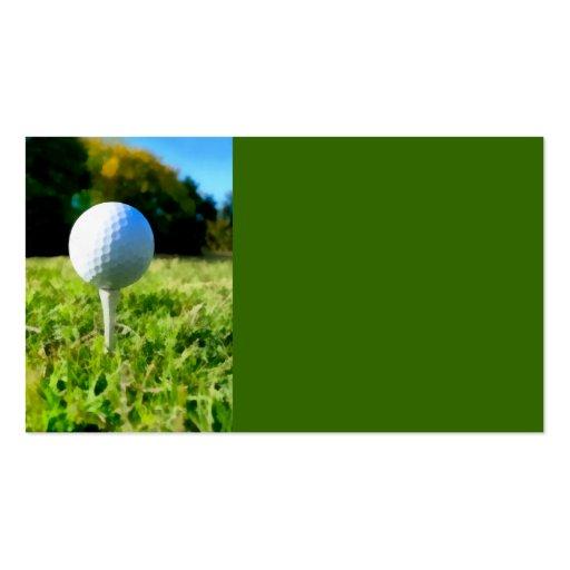 golf ball business card template original photo