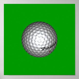 Golf Ball by SRF Poster