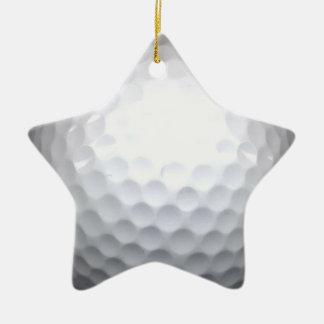 golf ball ceramic ornament