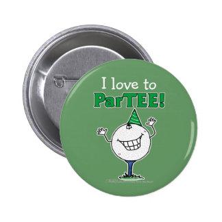 Golf Ball Character ParTEE! Button