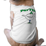 Golf Ball Character ParTEE! Dog T-shirt