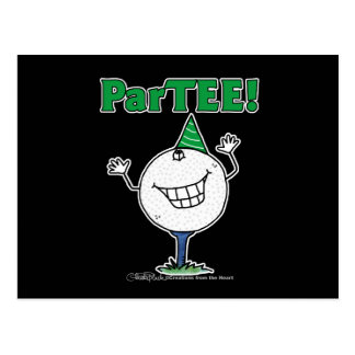 Golf Ball Character ParTEE! Post Cards
