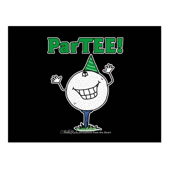 Golf Ball Character ParTEE! Postcard