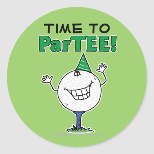 Golf Ball Character ParTEE! Stickers