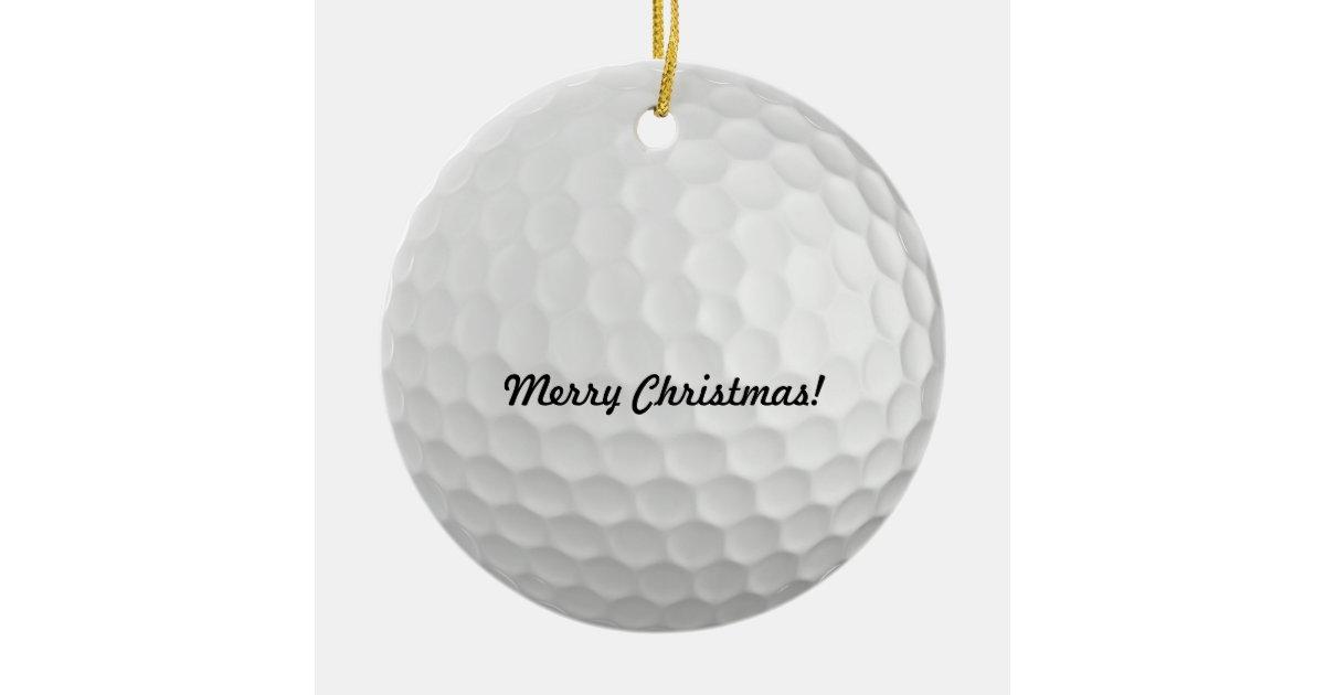 Golf Ball Christmas Ornaments | Zazzle.com