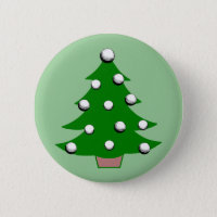 Golf Ball Christmas Tree Button