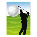"Golf Ball Coming at You 5"" X 7"" Invitation Card"