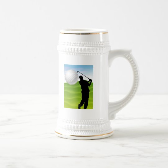 Golf Ball Coming at You Beer Stein