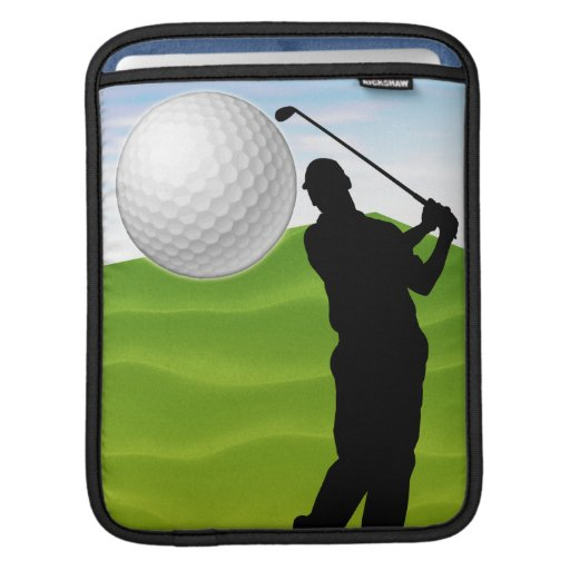 Golf Ball Coming at You iPad Sleeve