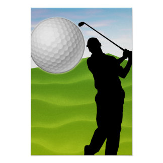 Golf Ball Coming at You Poster