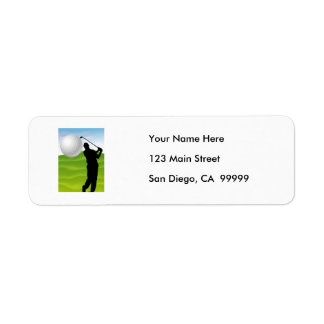 Golf Ball Coming at You Return Address Labels