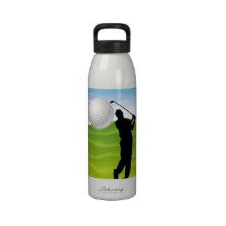 Golf Ball Coming at You Reusable Water Bottles