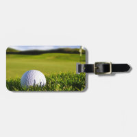 Golf Ball Course Luggage Tag
