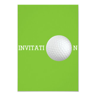 Golf Ball Custom 12.7 cm x 8.9 cm  Invitations