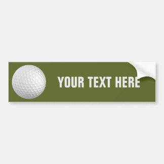 Golf Ball custom bumpersticker Bumper Sticker