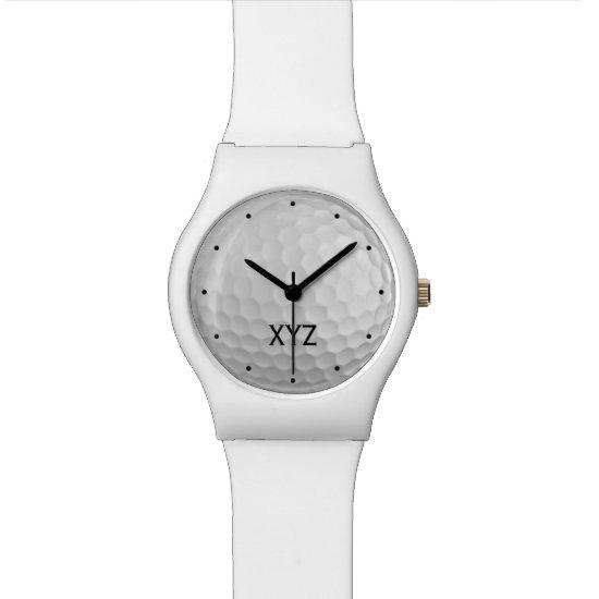 Golf Ball custom monogram watches