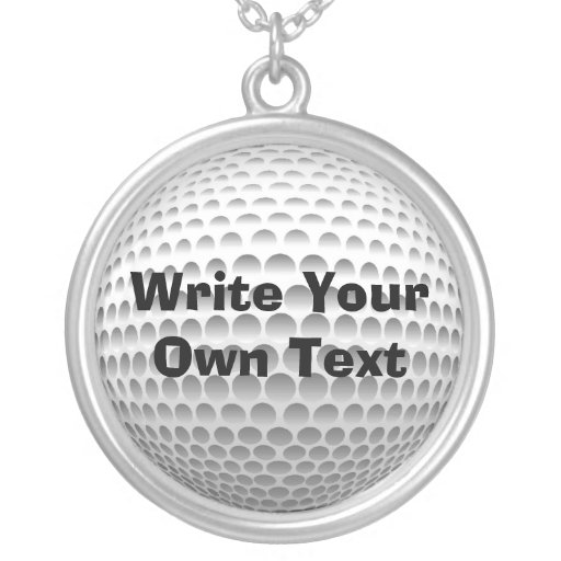 Golf Ball Custom Necklace