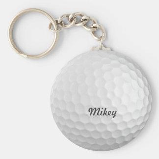 Golf Ball Customizable Basic Round Button Keychain