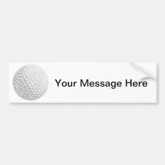 Golf Ball Design Bumper Sticker
