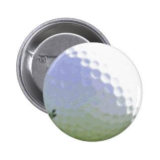 Golf Ball Design 2 Inch Round Button