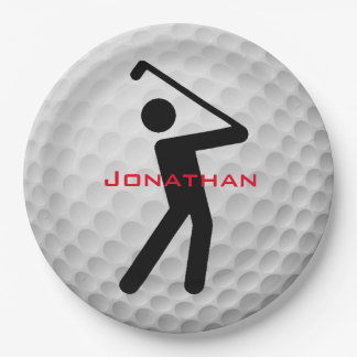 Golf Ball Design Paper Party Plate