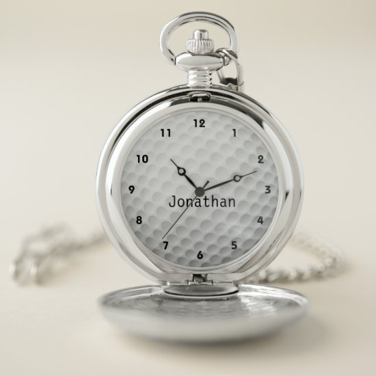 Golf Ball Design Pocket Watch