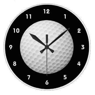 Golf Ball Design Wall Clock