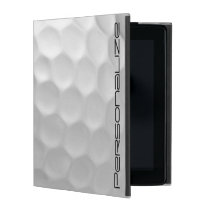 Golf Ball Dimples Pattern with Personalized Name iPad Case