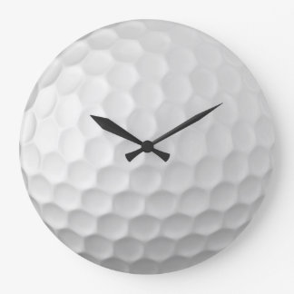 Golf Ball Dimples Texture Pattern 2 Large Clock