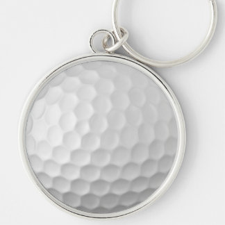 Golf Ball Dimples Texture Pattern 2 Silver-Colored Round Keychain