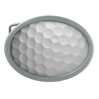 Golf Ball Dimples Texture Pattern Belt Buckle