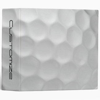 Golf Ball Dimples Texture Pattern 3 Ring Binder