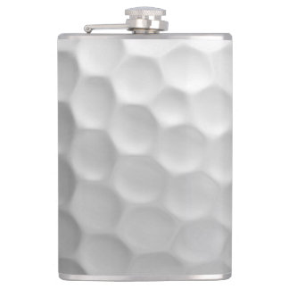 Golf Ball Dimples Texture Pattern Flask
