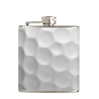 Golf Ball Dimples Texture Pattern Hip Flask