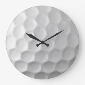 Golf Ball Dimples Texture Pattern Large Clock