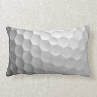 Golf Ball Dimples Texture Pattern Lumbar Pillow at Zazzle