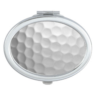Golf Ball Dimples Texture Pattern Mirror For Makeup