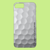 Golf Ball Dimples Texture Pattern Personalized iPhone 8/7 Case