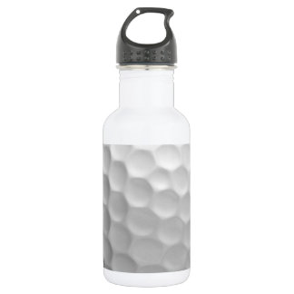 Golf Ball Dimples Texture Pattern Stainless Steel Water Bottle