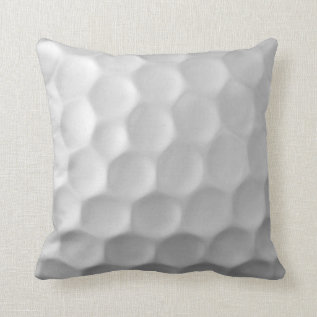 Golf Ball Dimples Texture Pattern Throw Pillow at Zazzle