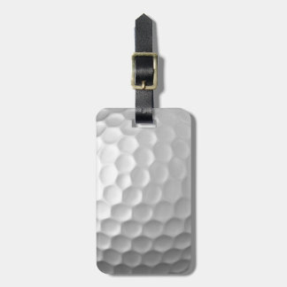 Golf Ball Dimples Texture Pattern with name Tag For Luggage