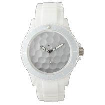 Golf Ball Dimples Texture Pattern Wristwatch
