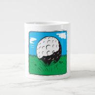 Golf Ball Extra Large Mugs