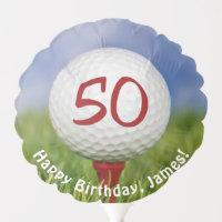 Golf Ball for 50th birthday Balloon