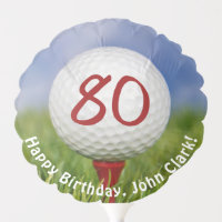 Golf Ball for 80th birthday Balloon